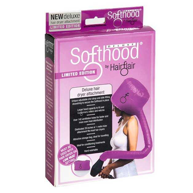 Deluxe pink softhood bonnet hair dryer attachments