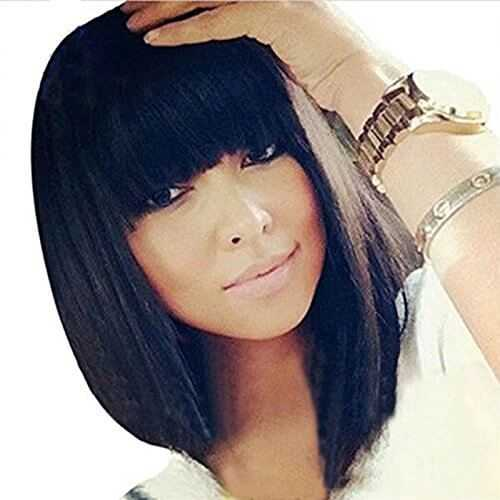 Full Bangs Glueless Lace Front Wig