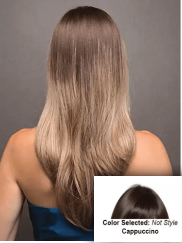 Black Hair with Ombre Highlights