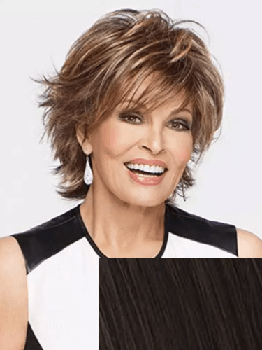 Short Hair Black Ombre Wig by Raquel Welch
