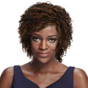 2. 8 Mixed Color Curly Wigs for Black Women -Short Curly Wigs for Black Hair