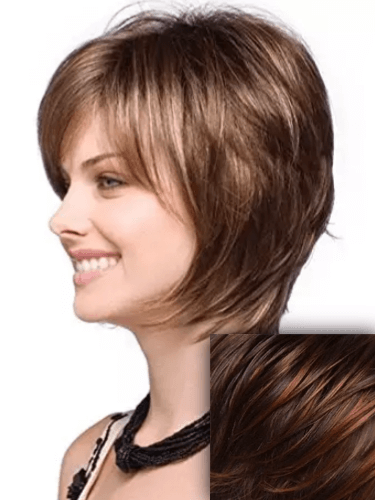 Black to Red Ombre Very Short Hair Wig