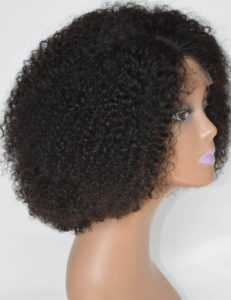 3. Chantiche Silk Top Invisible Deep Parting Lace Wig -Curly Wigs for Black Women