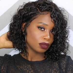 3. Full Lace Human Hair Short Wigs -Short Curly Wigs for Black Hair