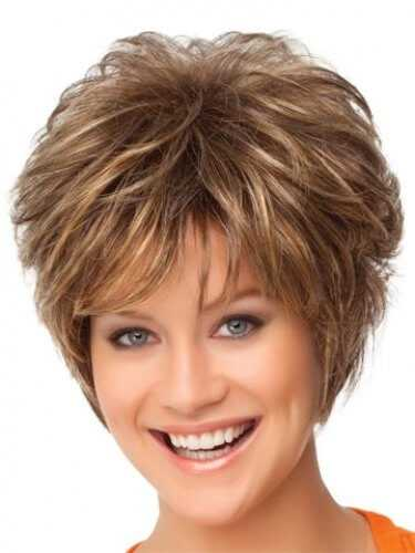 Synthetic Short Hair Brown Ombre Wig