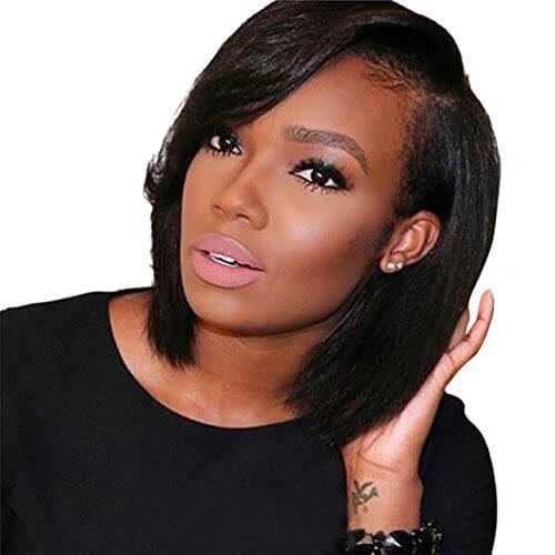 4. ARUKI Hair Short Bob Human Hair Lace Front Wig -Lace Front Wigs for Black Women