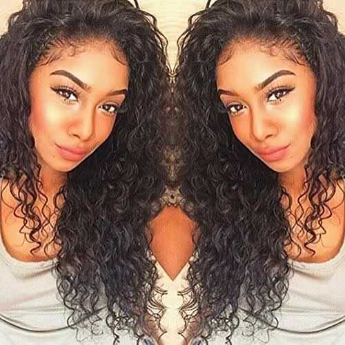 4. Curly Human Hair Lace Front Wig -Curly Wigs for Black Women