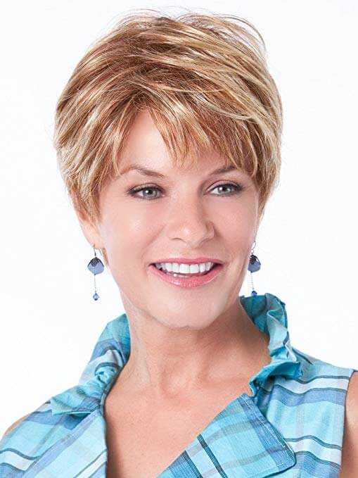 Dark to Light Brown Short Natural Pixie Cut Ombre Wig