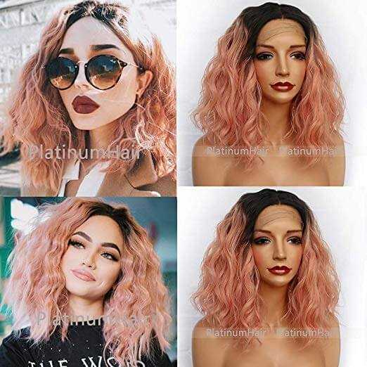 Rose Gold Ombre Wig