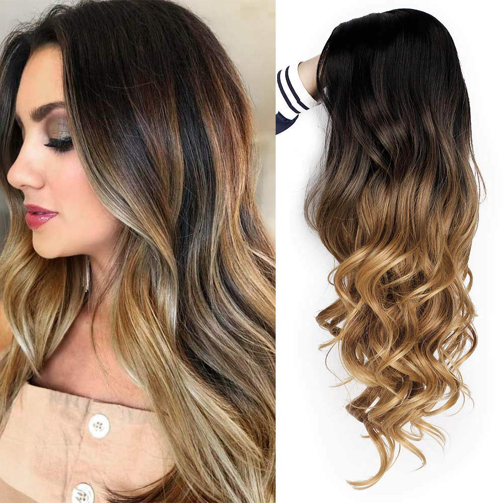 AISI QUEENS Brown Ombre Wigs