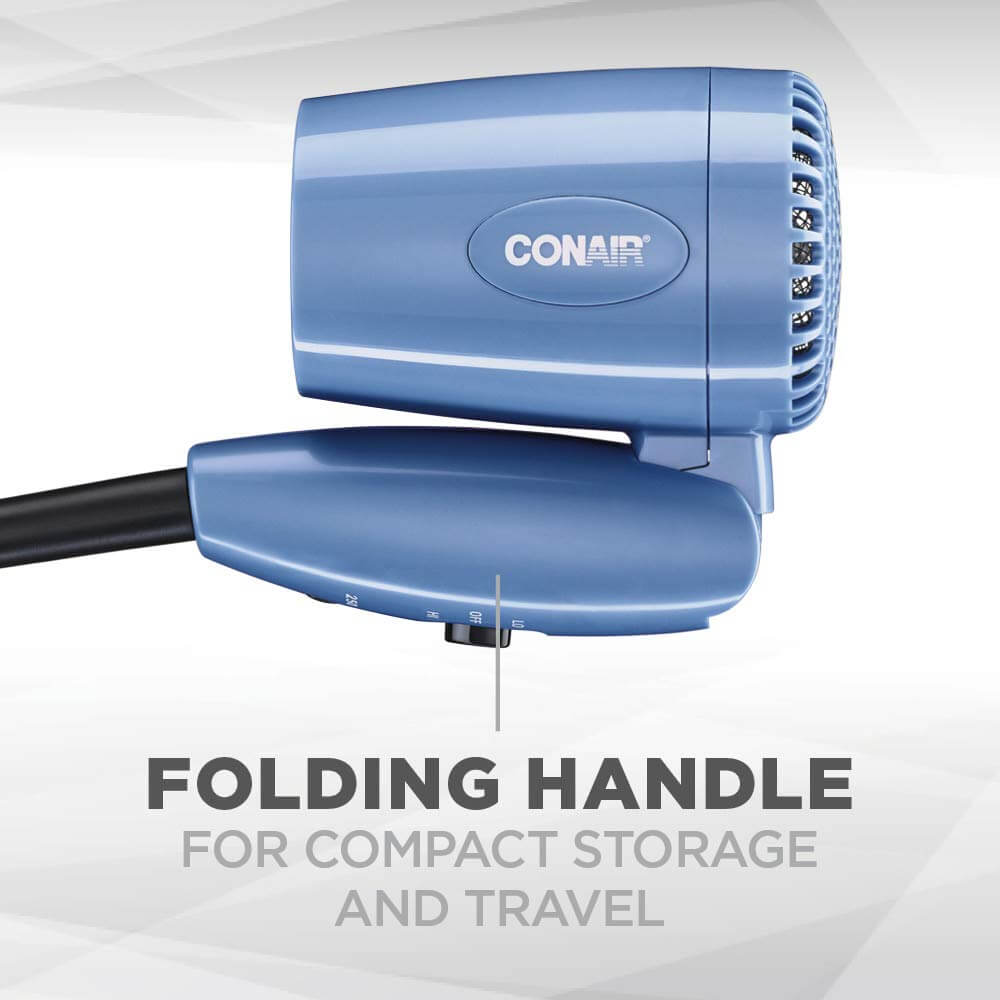 Showing Conair 1600W Folding Compact Hair Dryer