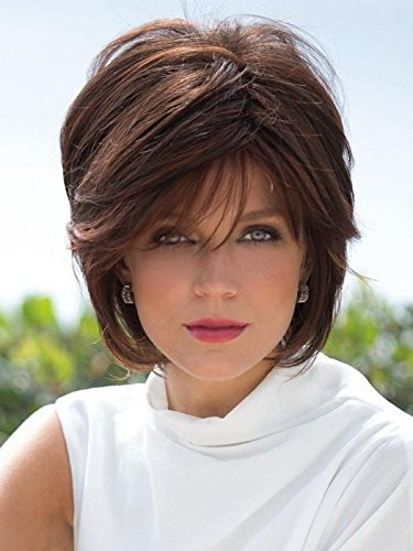 Synthetic Short Hair Layers Side Fringe Open Weft Wig